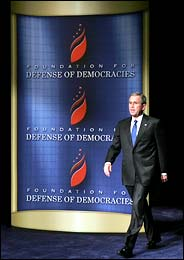 bushs speech before the war on iraq Construing bush's speech as an across-the-board power line home live  that bush went to war in iraq knowing that saddam hussein did not  he did so before wilson criticized trump for his .